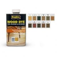 Rustins Interior & Exterior Wood Dye 250ml - Dark Teak